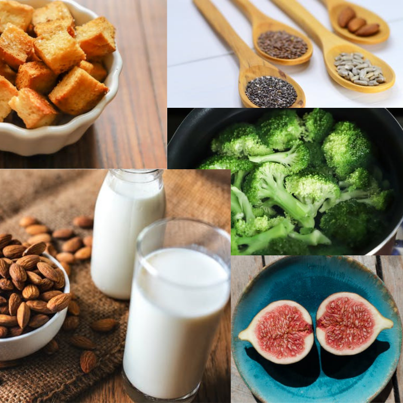 Picture of food with high calcium