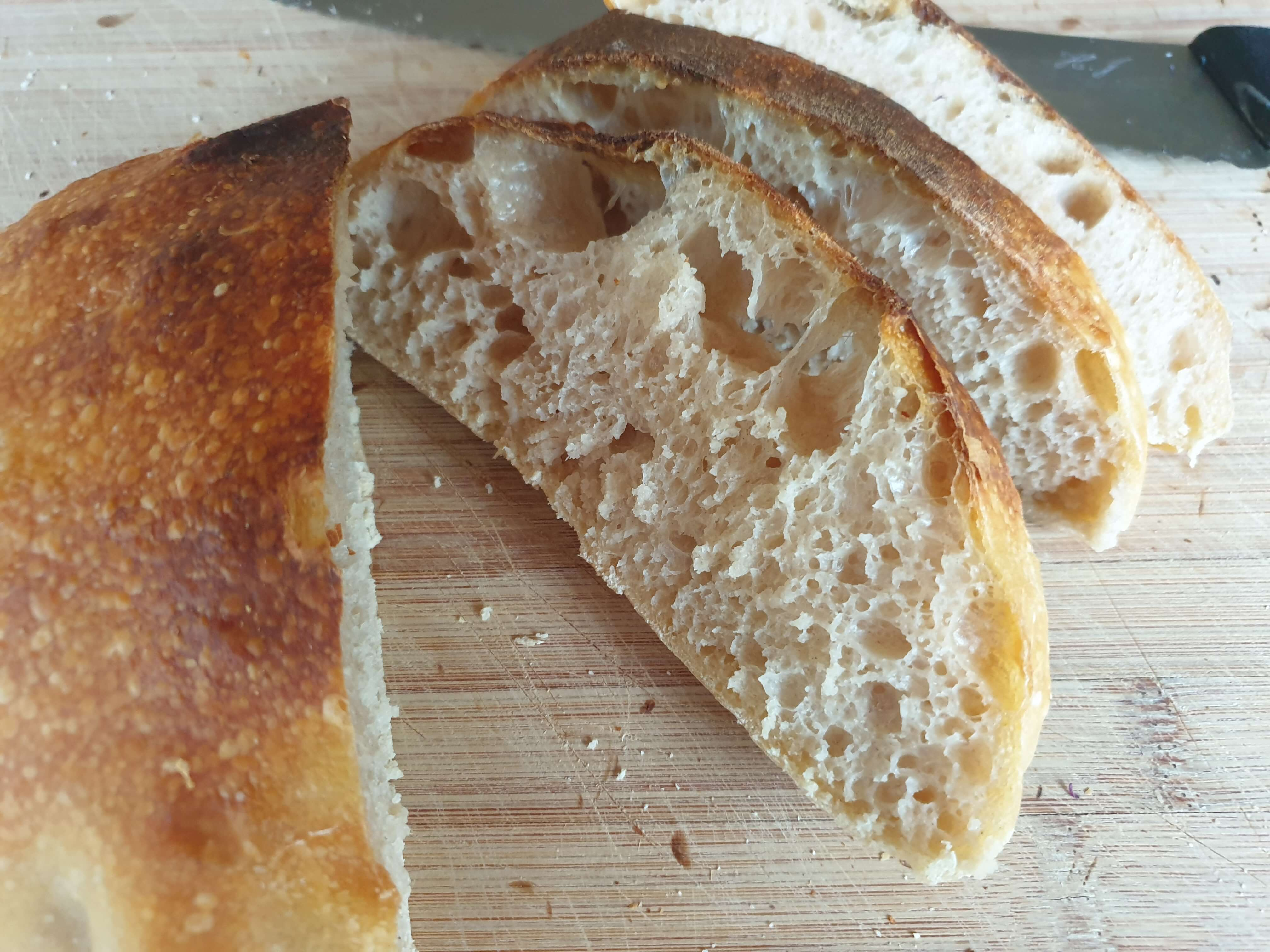 picture of cut sourdough